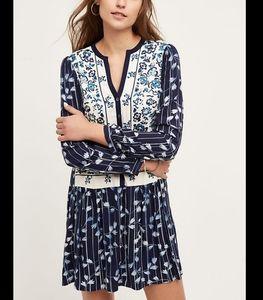 Anthropologie TINY Semele Floral Shirt Dress